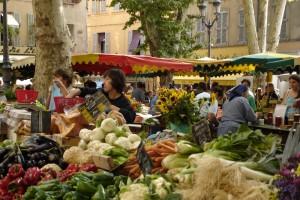 Un instantané au marché d'Uzès