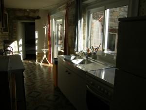 La cuisine au lever du soleil